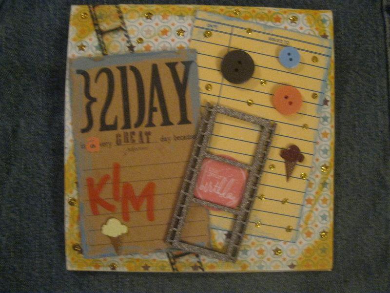 Kim Birthday Card