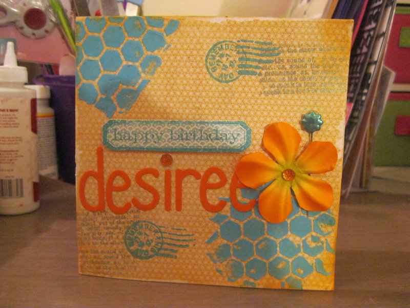 Desiree Birthday Card