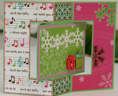 Christmas card - swing fold