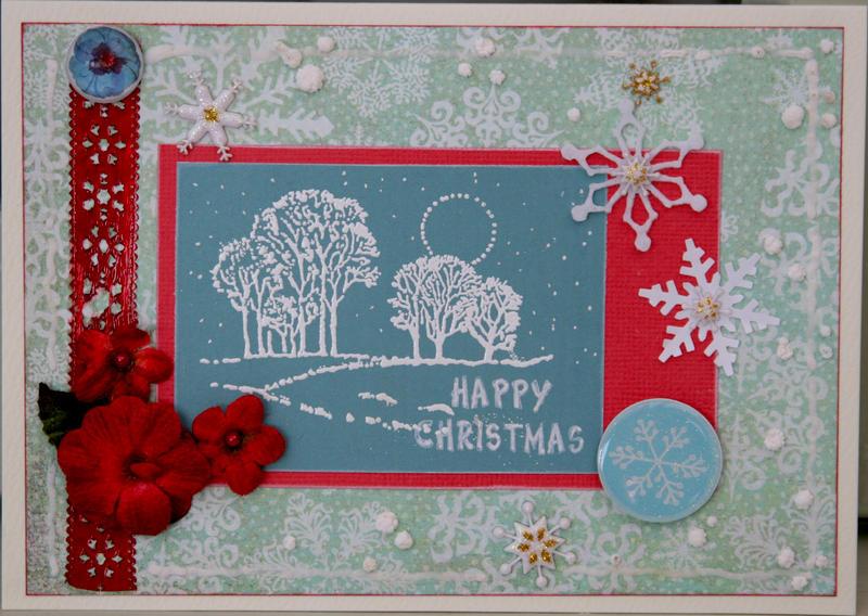 Christmas card - aqua