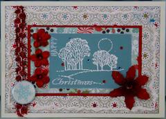 Christmas card aqua 3