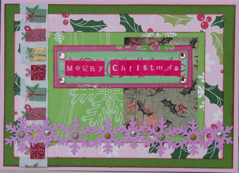 Christmas card - pink