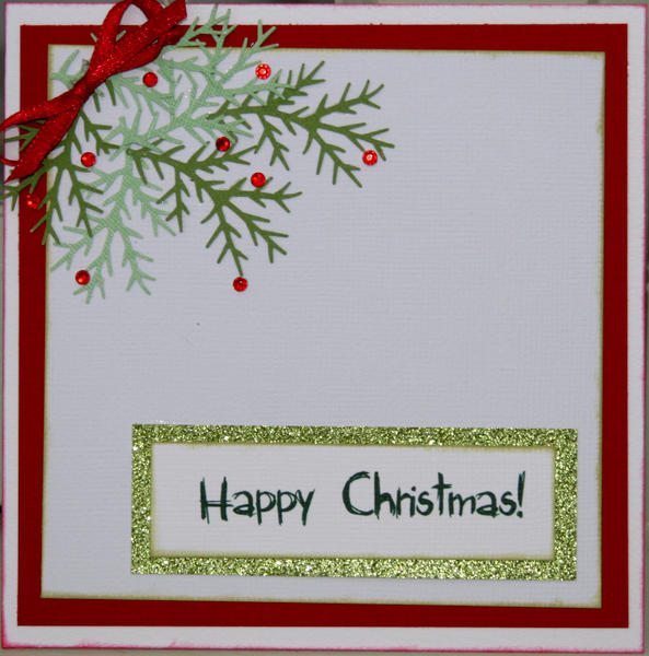 Christmas fir card