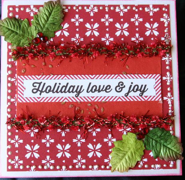 Christmas holiday love card