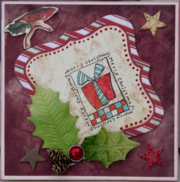 Off-centre Christmas card