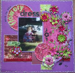 Girl in the flowery dress