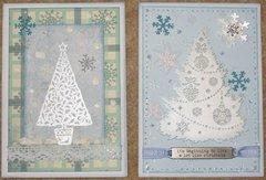 Blue Christmas cards