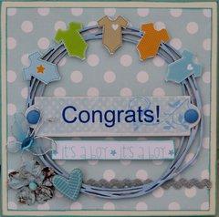 Baby boy congrats