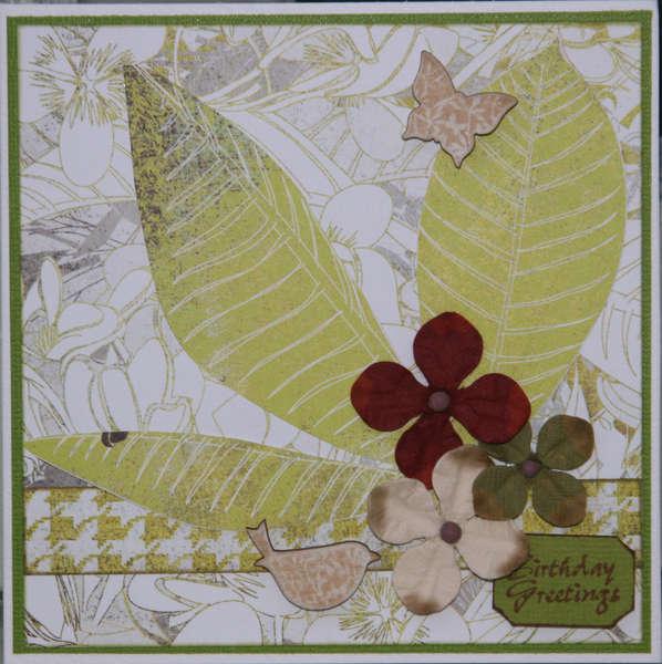 Leafy Birthday card