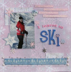 I learnt to ski!