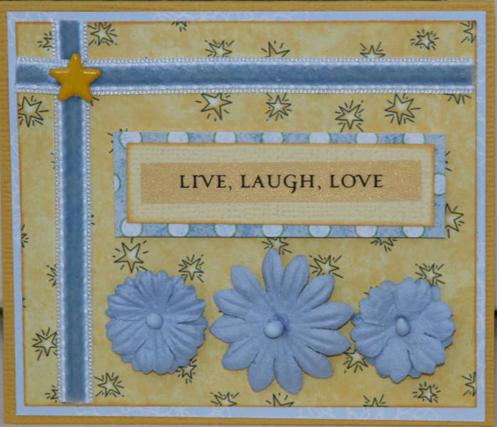 Live laugh love card
