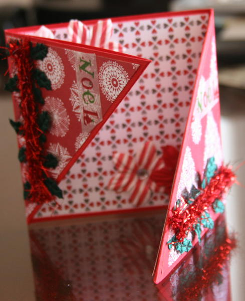 Christmas card triangle fold