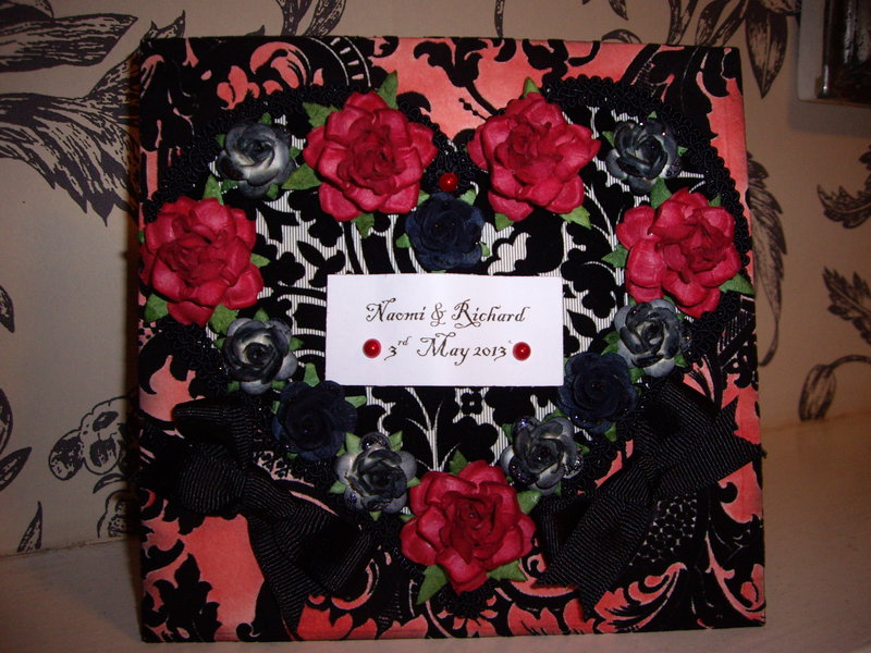 Black and red Wedding card