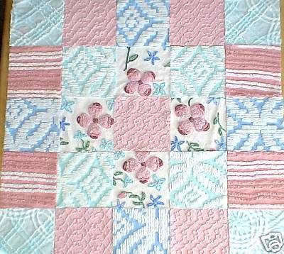 Vintage Chenille Quilt Blocks
