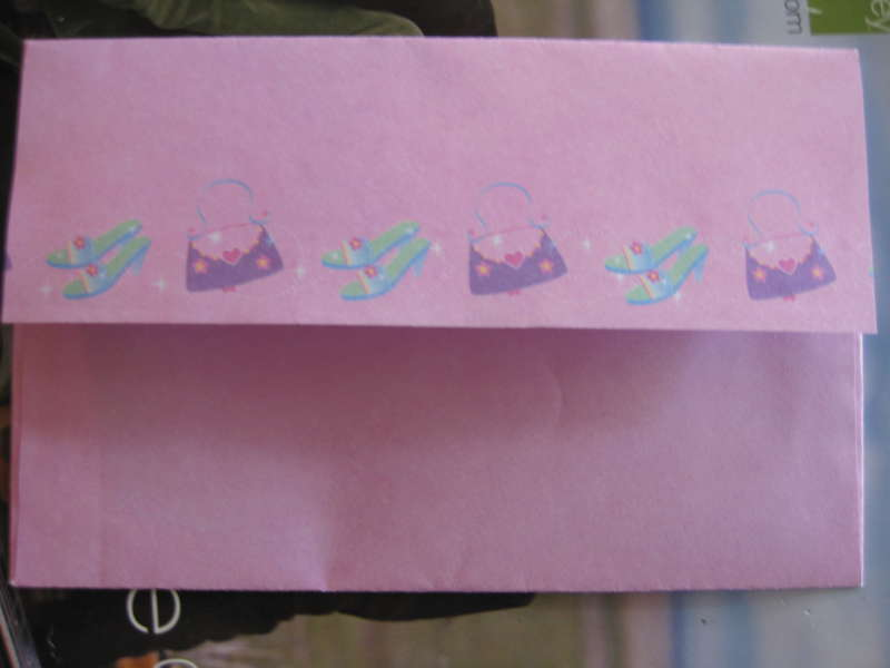 matching envelope for 18th birthday