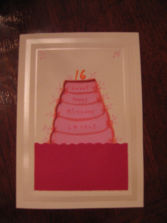 Sweet 16 card (front)