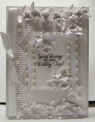 Another white wedding card