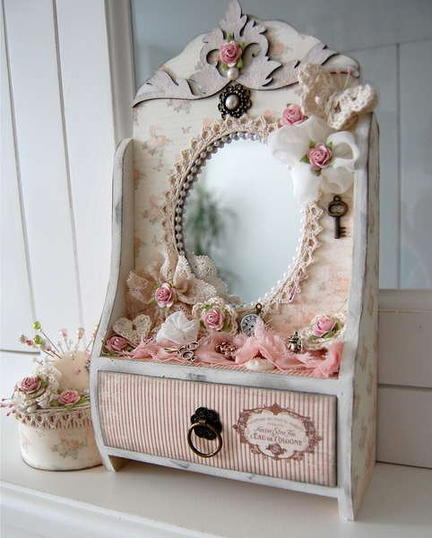 mirror with drawer *Dusty Attic*