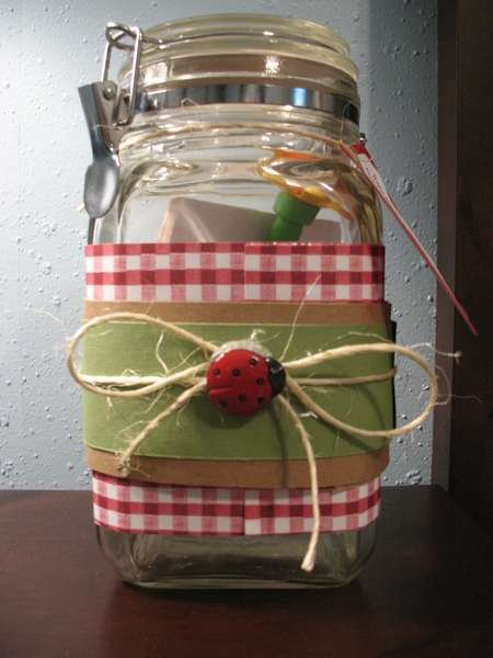 Baby Gift Jars : Other baby shower gift memory jar