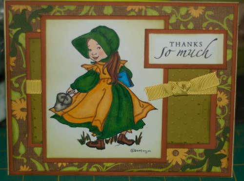 Prairie Girl Thank You card