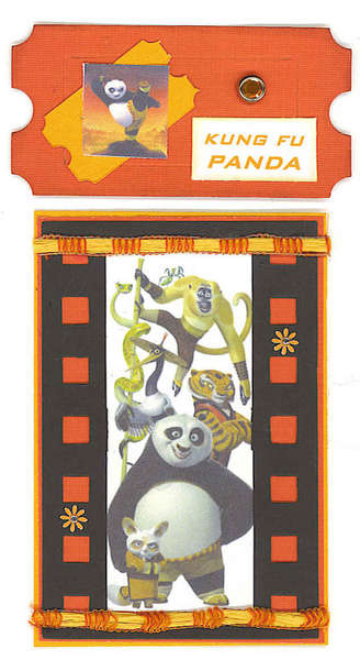 Kung Fu Panda Ticket/Film Strip