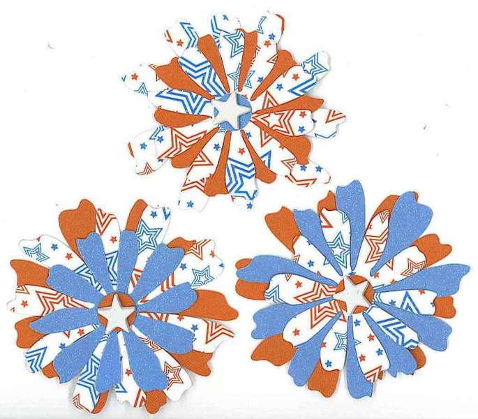 Patriotic Stacked Flowers
