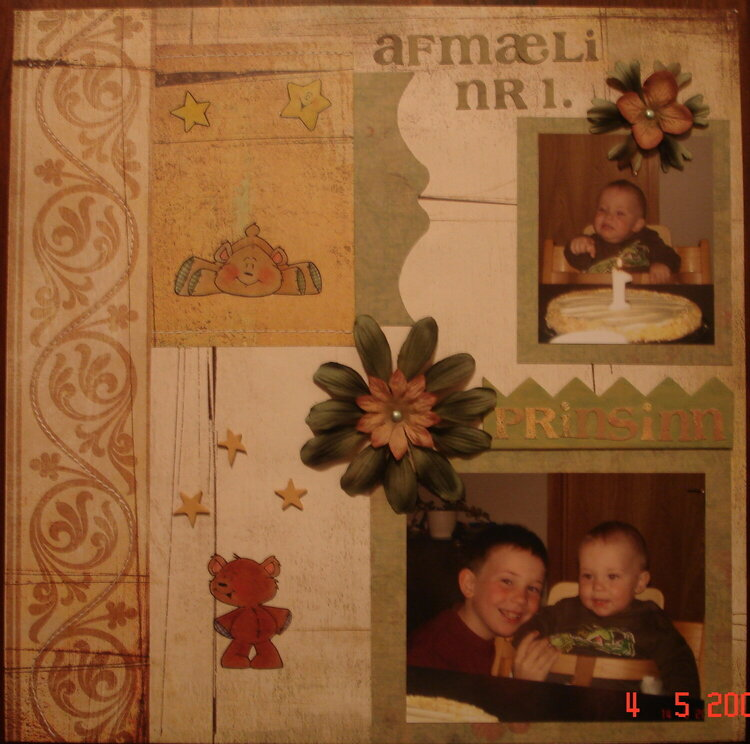 Adam's first birthday