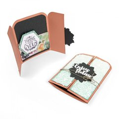 Enjoy Today Rose Vine Gatefold Card