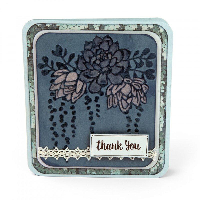 Elegant Succulents Thank You Card