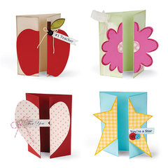 Apple, Flower, Heart, and Star Gatefold Cards