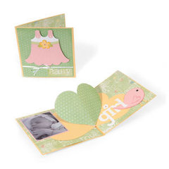It's a Girl Heart Pop Up Card by Deena Ziegler