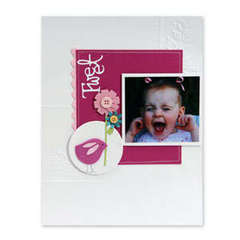 Tweet Bird & Flowers Scrapbook Page by Debi Adams