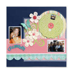 Celebrate Photo Wheel Scrapbook Page by Debi Adams