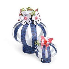 Flower & Butterfly Embellished Lanterns by Debi Adams