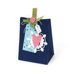 Thanks Heart Gift Bag by Debi Adams