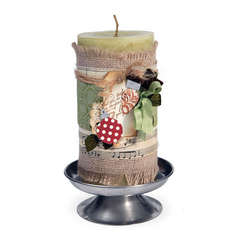 Holiday Candle Wrap by Deena Ziegler
