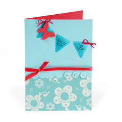 Just a Note Banner Card by Cara Mariano