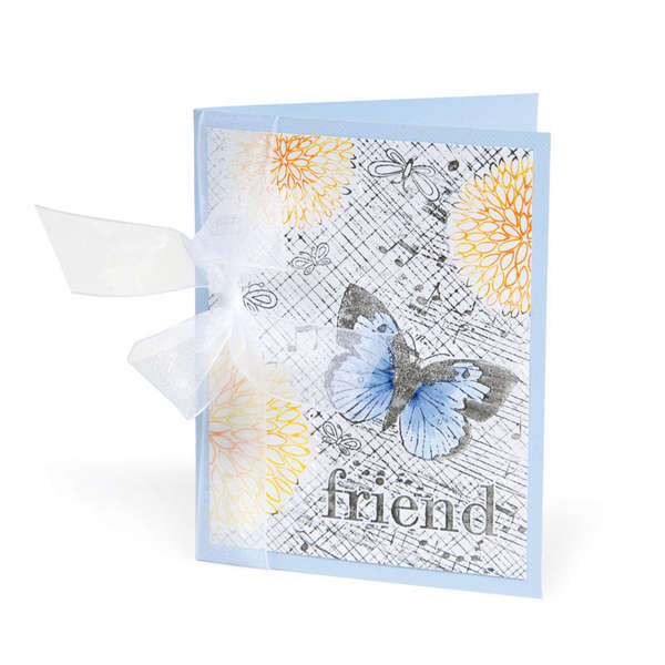 Friends Butterfly & Flowers Card by Beth Reames