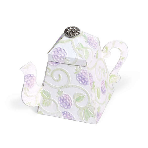 Embossed Teapot Box by Beth Reames