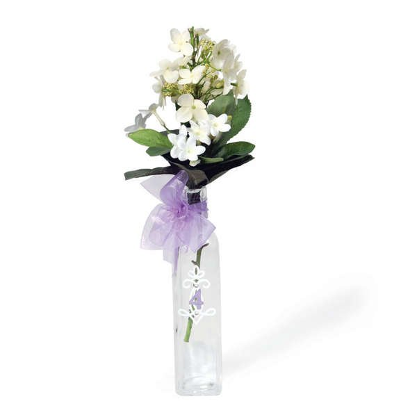 Embelished Flower Vase for Table Number by Debi Adams