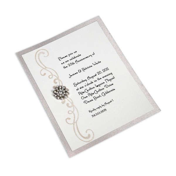Festive Swirls Anniversary Party Invitation