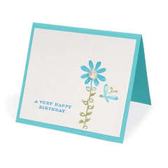 Birthday Butterfly & Flower Card by Beth Reames