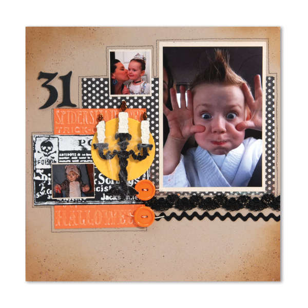 Halloween Scrapbook Page by Debi Adams
