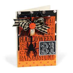 Embossed Halloween 31 Card by Debi Adams
