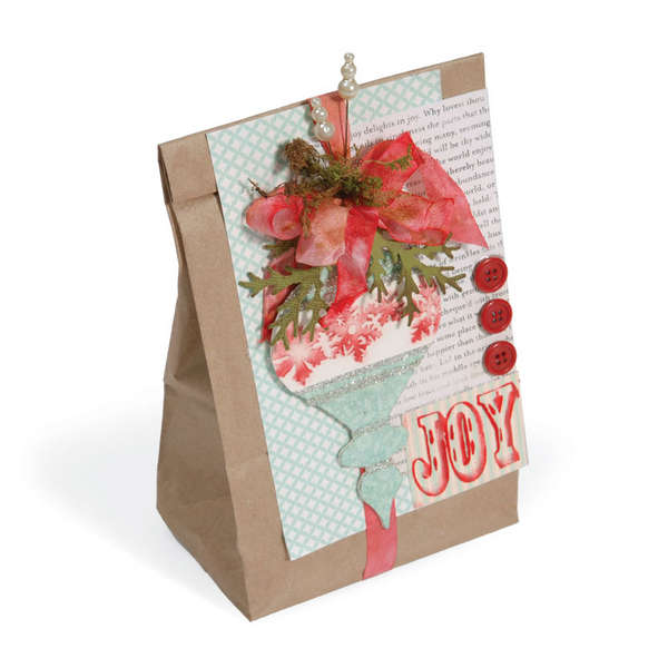 Joy Ornaments Gift Bag by Debi Adams