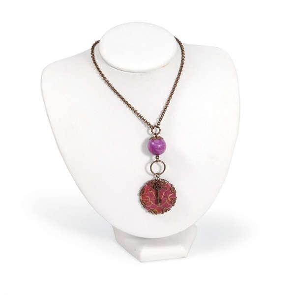 Deco Motif Pendant Necklace by Deena Ziegler