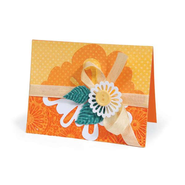 Flower Medallion Accent Card by Debi Adams