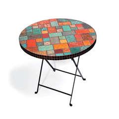 Table w/Embossed Tiles by Debi Adams