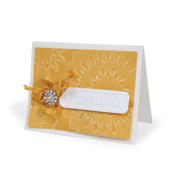Embossed Congratulations Card by Beth Reames