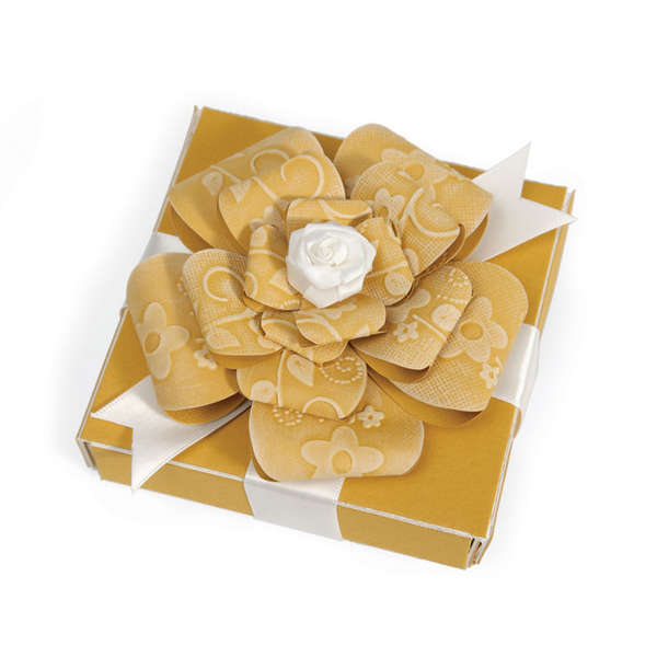 Embossed Flower Bow & Box by Beth Reames